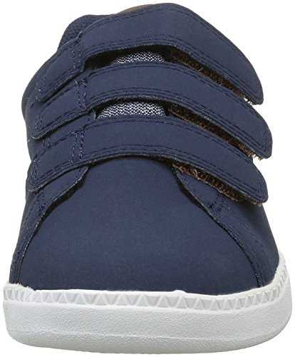 Le Coq Sportif Courtone Ps Craft, Zapatillas Unisex Niños Azul (Dress Blue/MustangDress Blue/Mustang)