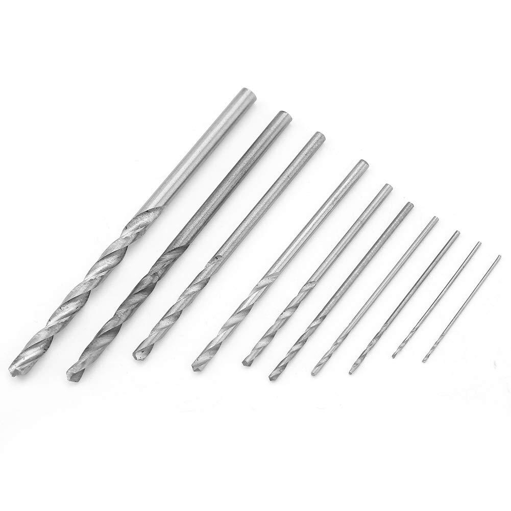 10PCS Durable High Speed Steel Straight Shank 0.5-3mm Twist Drill Bits Drilling Tools Drill Bit