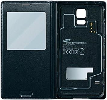 Samsung EPVG900BBEGWW Etui S-view à induction pour Samsung Galaxy S5 Noir