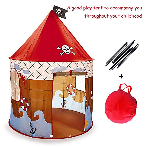 """Wishome 53"""" Foldable Pop UP Play Tent for Kids Boys Playhouse Castle for Indoor & Outdoor Use Great Gift Idea for -"""