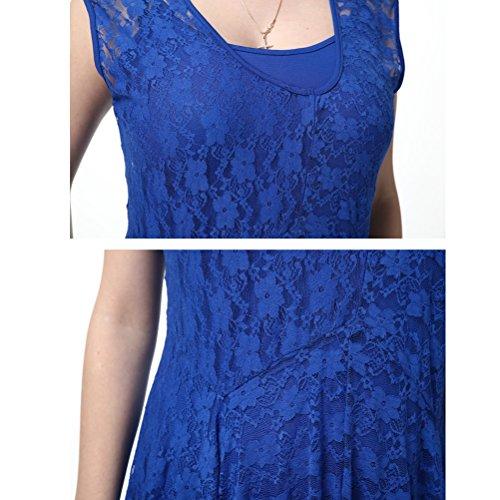Abito Hem Donna Pizzo Zhhlaixing Forti Elegante Taglie da Sera Comode Dancing piece Blue Dresses Dress Two Irregular Skirt Party per Nightclub tqSvqa