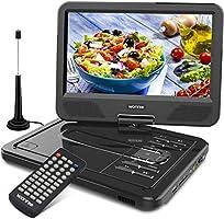 WONNIE ポータブルdvdプレーヤー 10.5型 地デジ 車載 DVDプレーヤー フルセグ ワンセグ tvチューナー リージョンフリー アンテナ 車載 DVDプレーヤー USB/SD/AV対応 CPRM機能 メーカー3年保証
