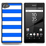 Graphic4You Color Stripes Pattern Design Thin Slim Rigid Hard Case Cover for Sony Xperia Z5 Compact (Royal Blue)