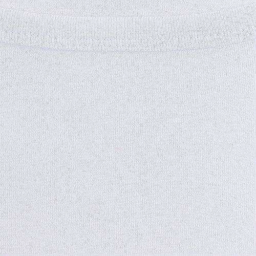 Weisses Unterhemd in Feinripp von ADAMO bis Übergröße 20