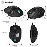 Gaming Mouse, UtechSmart Venus 16400 DPI High Precision Laser MMO Gaming Mouse [ IGN's PICK]