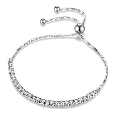 Honest Zircon Chain Bracelet Gift Fashion Women Wristband Jewelry Gift Pretty Nice Gl Jewelry & Watches Bracelets