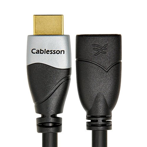 Cablesson Ivuna 9 ft/3m High Speed HDMI Extension Cable (HDMI Type A, HDMI 2.1/2.0b/2.0a/2.0/1.4) - 4K, 3D, UHD, ARC, Full HD, Ultra HD, 2160p, HDR - for PS4, Xbox One, LCD, LED, UHD, 4k TVs - Black by Cablesson