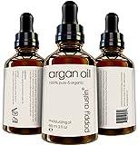 Poppy Austin Pure Argan Oil for Hair & Skin, Organic Finest Grade, 2 fl. oz