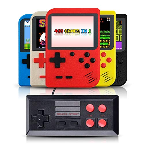 DigitCont Retro Mini Handheld Arcade, Built-in with 400 Classic Games Double Players Mode Miniature Console Handheld Portable Game Cabinet Machine Rechargeable Battery Inside Support Connect TV Red by DigitCont (Image #2)