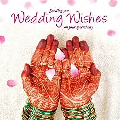 Wedding Card Wishes.Asian Wedding Card Wedding Wishes Greeting Card Amazon Co