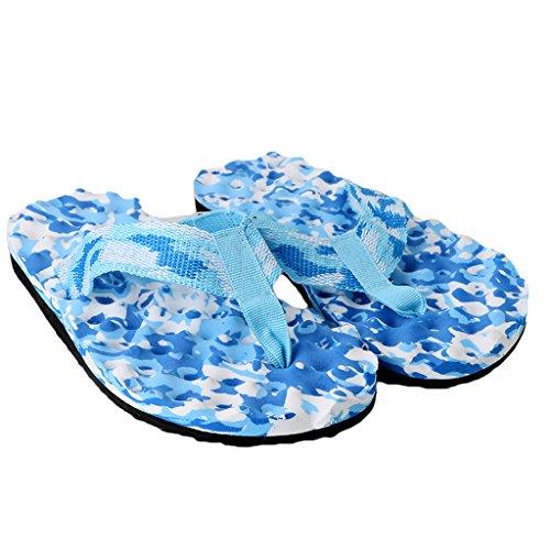 Sandales Camouflage bleu 40 Beach Camouflage Intérieur Chausson Ou Tongs Jagenie Summer Chaussures Femme bleu Chaussons Extérieur YwOFP7q