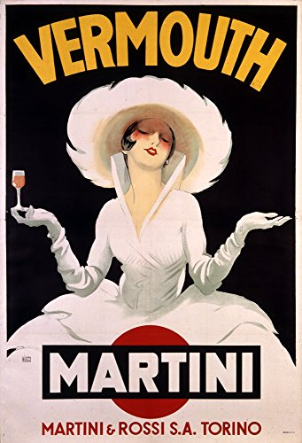 Vermouth - Martini Vintage Poster artist: Dudovich Austria c. 1920 Collectible Giclee Gallery Print,