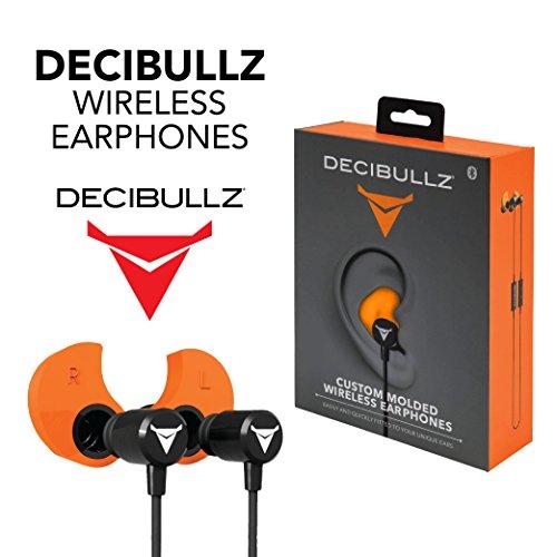 Decibullz - Custom-Fit Bluetooth Wireless Headphones, The First Custom Molded Wireless/Bluetooth Earphones (Orange) by Decibullz (Image #5)