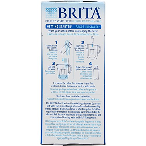 Brita Standard Replacement Filters for Pitchers and Dispensers- BPA Free - 6 Count