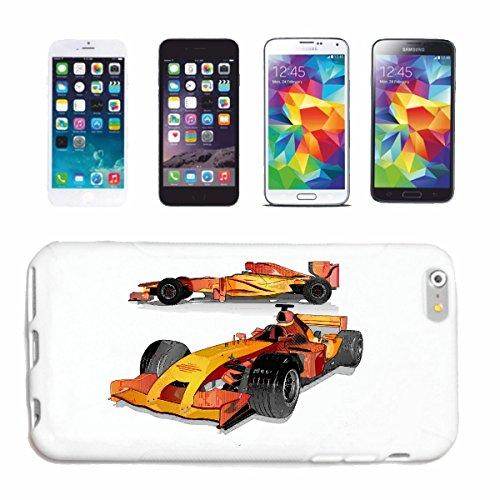 """cas de téléphone iPhone 7S """"COURSE DE FORMULE 1 RACE RACING FORMULE MOTOR SPEEDWAY ÉQUIPE SPEED CLASSIC AMERICAN"""" Hard Case Cover Téléphone Covers Smart Cover pour Apple iPhone en blanc"""