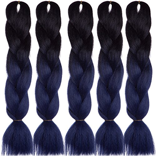 Emmet Jumbo Braids 60+ Colors Kanekalon Synthetic Box Braids African Hair Extension 100g/pcs, Hair Care Ebook Included (24