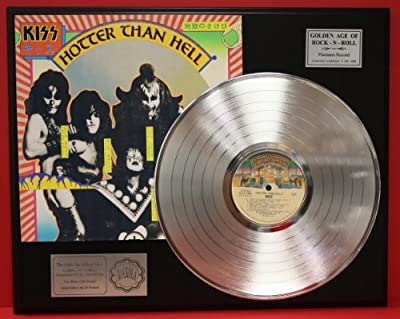 "Kiss ""Hotter Than Hell"" Platinum LP Record LTD Edition Award Style Collectible Display"
