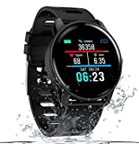SENBONO Fitness Tracker Bluetooth Smart Watch, Activity Tracker with Heart Rate Monitor for Android/iOS, IP68 Waterproof Smart Watch Bracelet Wristband Pedometer Watch for Kids Women Men (Black)