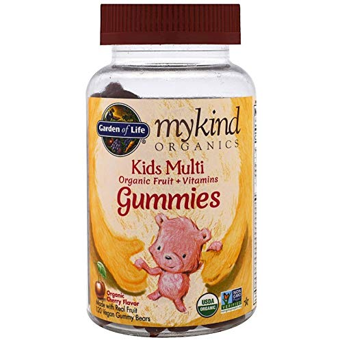 Mykind Organics Kids Multi Organic Cherry Flavor 120 Gummy Bears