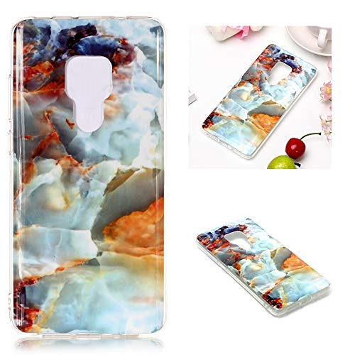 for Huawei Mate 20 Marble Case with Screen Protector,Unique Pattern Design Skin Ultra Thin Slim Fit Soft Gel Silicone Case,QFFUN Shockproof Anti-Scratch Protective Back Cover - Fire Cloud by QFFUN (Image #4)