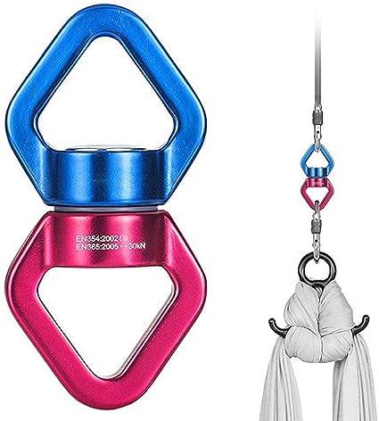 360 Degree Safest Swing Spinner Swivel Hanger 2x Screw Lock Carabiners