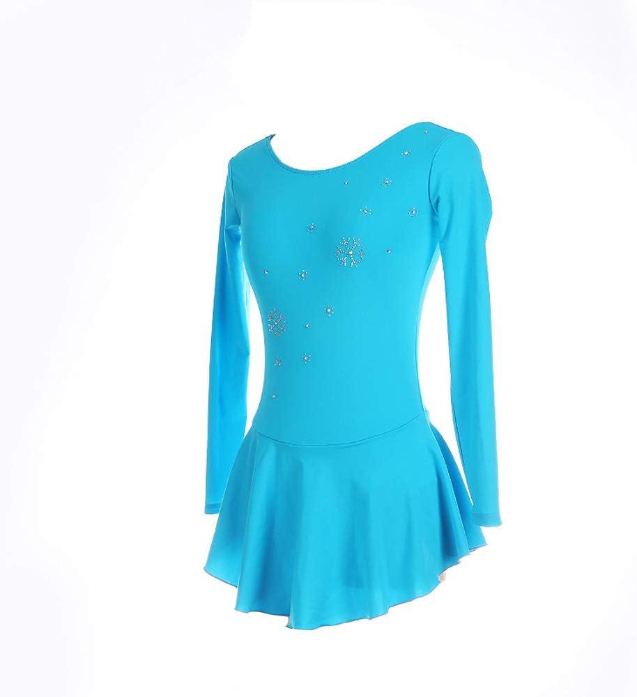 Jolie Moda Vestido de Patinaje artístico Azul Cielo Claro Copo de ...