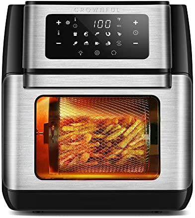 CROWNFUL 9-in-1 Air Fryer Toaster Oven,