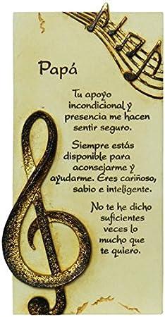Framan PERGAMINO DE Piedra LABRADA con Textos para Ocasiones Especiales, Original Y ECONÓMICO. Especial PAPÁ
