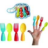 Great Fun Plastic Finger Cutlery Set, Novelty Item For Parties & Party Games, Encourages Children to Eat - Great for taking Camping, by Kenzie Gifts