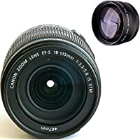 Canon 18-135mm IS STM Lens (WHITE BOX) + High Definition Telephoto Auxiliary Lens