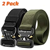 Fairwin Tactical Belt, 2 Pack 1.5 Inch Military