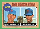 Nolan Ryan 1968 Topps Baseball Reprint Rookie Card (Mets) (Astros) (Rangers) (Angels)