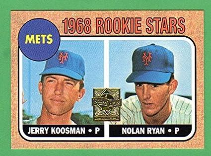 Nolan Ryan 1968 Topps Baseball Reprint Rookie Card Mets