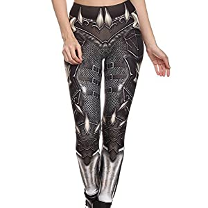Mad Ink Women's Girls Pioneer Warrior Sexy Tattoo Digital Print Elasticity Leggings Pencil Pants Tights