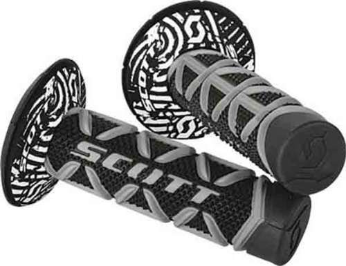 Scott USA Full Diamond/Half Waffle Grips Black/Grey Universal ()