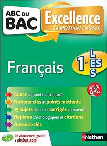 Français 1re L-ES-S (ABC du Bac Excellence): Amazon.es: Françoise Cahen, Caroline Vaugien: Libros en idiomas extranjeros