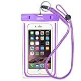 EOTW Waterproof Cell Phone Case Pouch Pocket Dry Bag with Military Class Lanyard For Diving Surfing Skiing, Fit iPhone 6 6S Plus 5 5S 5C SE, Galaxy S4 S5 S6 S7 Edge, Blu LG Motorola NOKIA HTC - Purple