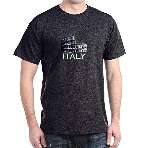 CafePress Italy (Colosseum Dark) Dark T Shirt 100% Cotton T-Shirt Charcoal