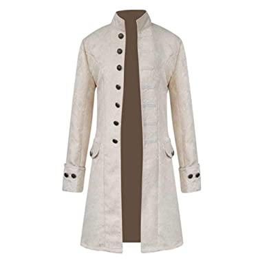 LIN Blouson Homme Hiver Mode Mens Habit Veste Goth Steampunk Uniforme  Costume Party Outwear b285873031a