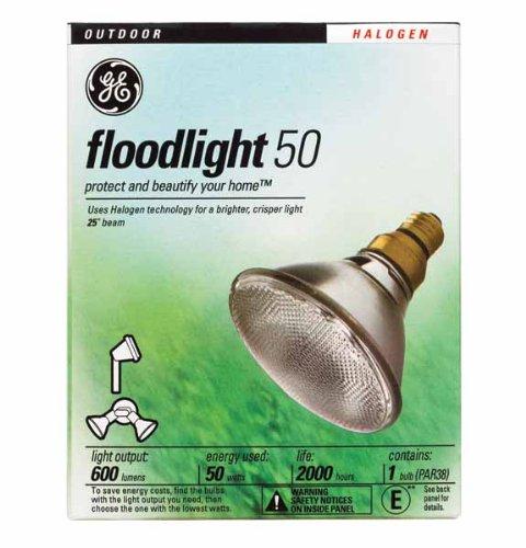 GE Halogen Indoor/Outdoor Floodlight, Standard, 50 Watts (Pack of 6)
