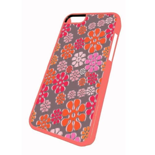 Flower Power Pattern - iPhone 5c Glossy Pink Case