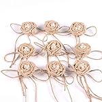 Tinksky-Christmas-Wedding-Embellishments-Burlap-Pearl-Rose-Flower-Hessian-Jute-Flower-Rustic-VintagePack-of-9