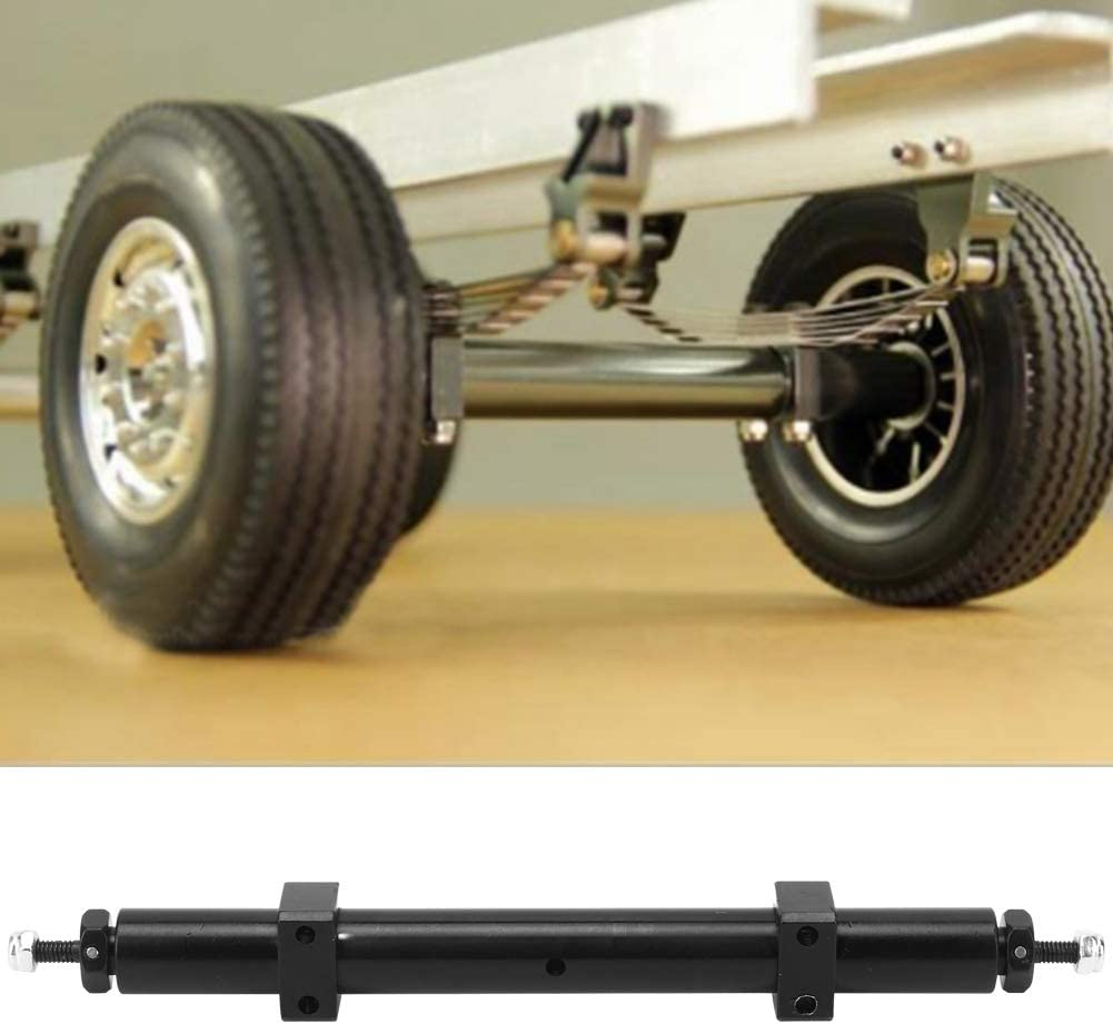 RC Car Rear Axle Rear Axle Tail Axle Upgrade Accessory Compatible with 1//14 Tamiya RC Car Trailer Model 120mm
