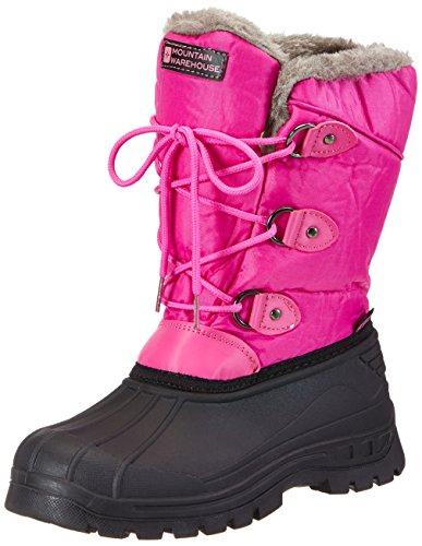 Mountain Warehouse Whistler Schneestiefel für Kinder - Schneedicht, warm, atmungsaktiv, strapazierfähige und griffige Sohlen - Ideal zum Wandern und für den Alltag Leuchtendes Pink