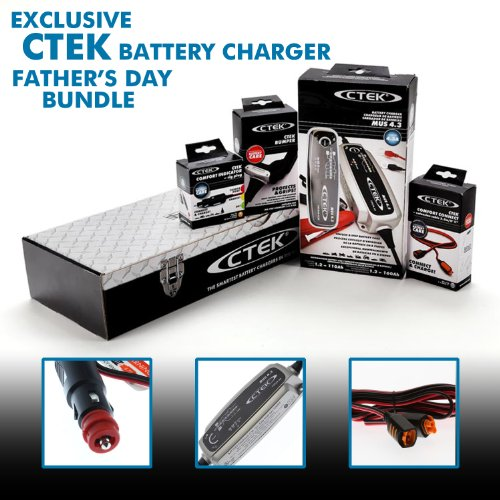 Automotive Battery Cable Extender : Ctek toolbox battery charger bundle with extension cable