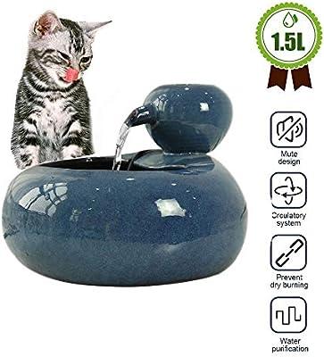 Fuente para gatos Fuente de agua para gatos, fuente de cerámica ...
