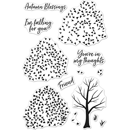 Hero Arts Color Layering Autumn Trees Stamps