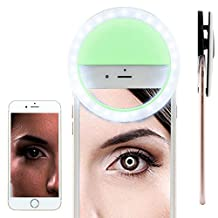 BLU Vivo Selfie Selfie Portable Flash Round Circle LED Ring Fill Light Camera Photography For IPhone Android Phone [ Green ] 1880982