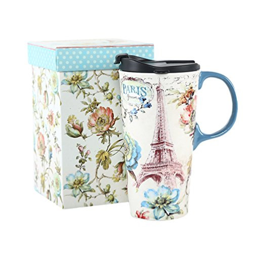 17 oz. Ceramic Travel Mug Sealed Lid With Gift Box