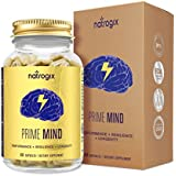 PrimeMind Brain Support Supplement by Natrogix for Focus, Energy, Memory & Clarity Formula - Mental Performance Nootropic With Cordyceps Mushroom, BacopaMonnieri Extract, Ginkgo, Glucuronolactone